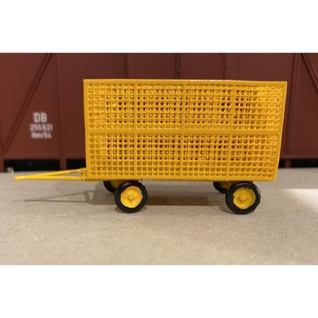 P&T Gittervogn lukket gul