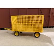 P&T Gittervogn åben gul
