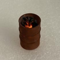 Rusten tønde m. ild