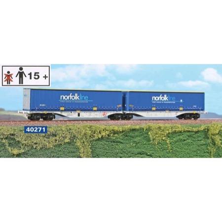 """Hupac dobbeltvogn """"Norfolk Line / Maersk"""""""