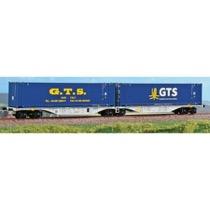 """GTS Rail dobbeltvogn med """"G.T.S."""" container"""