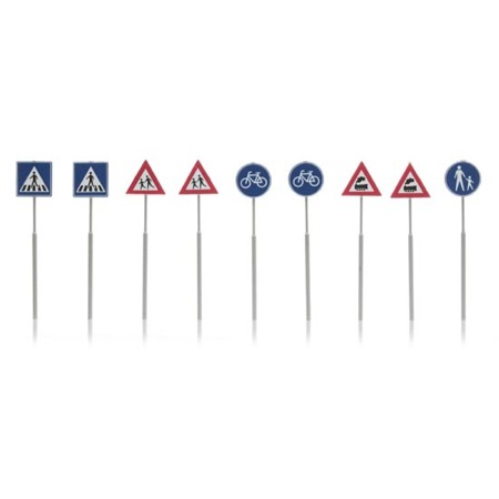 Dutch traffic signs (9 pcs)