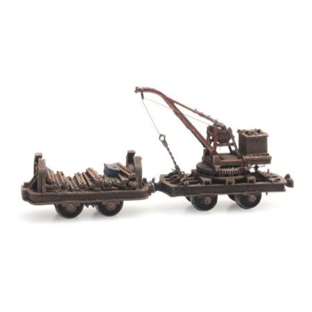 Narrow gauge wagon with crane