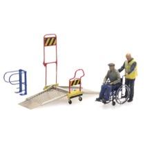 Kørestolsrampe og 2 figurer