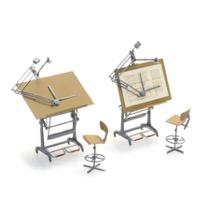 Arkitekt tegneborde og stole (2x)