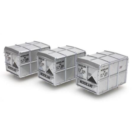 DAF lukket container sølv NED/NS (3 stk)