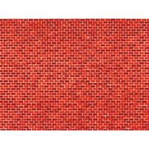 1 Dekorpappe Ziegelmauer rot lose