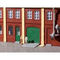 Porte og døre, grønne, trin, ramper