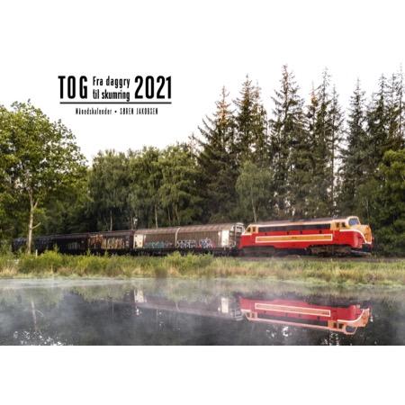Kalender 2021 med jernbanemotiver