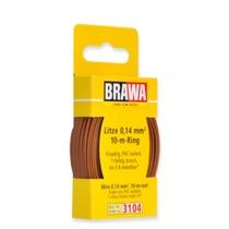 Ledning 0,14 mm², 10 m - Brun