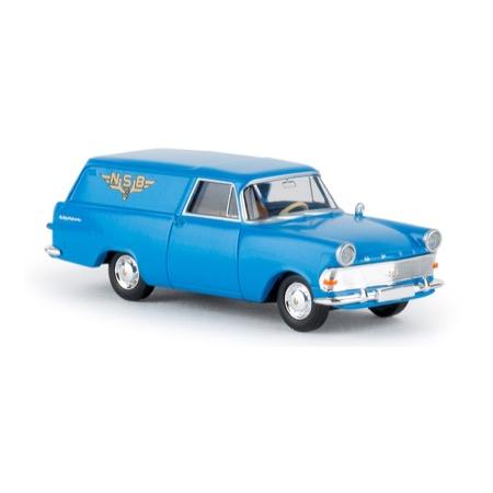 """Opel P2, """"NSB"""" varevogn, blå"""