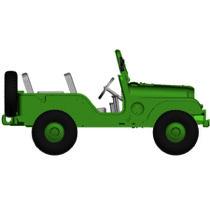 Jeep Universal, Military-Version, von Arwico (CH)
