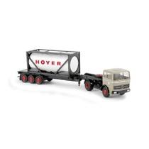 """MB lastbil med """"Hoyer"""" tankcontainer"""