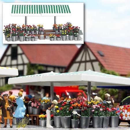 Marktstand Blumen H0