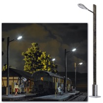 Lampe mit Holzmast 0