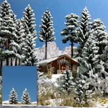 2 Snedækkede Grantræer, 55 mm