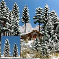 2 Snedækkede Grantræer. 90/120 mm