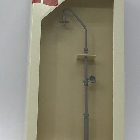 Perronlampe gl. type m. højtaler