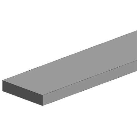 Hvid polystyren profil - Firkantet