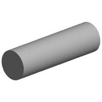 White polystyrene rod, diameter 2.50 mm