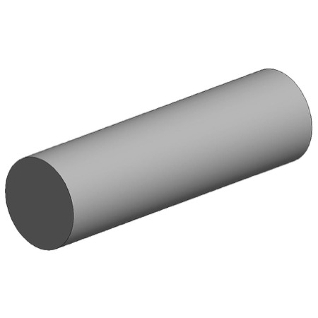 White polystyrene rod, diameter 2.50 mm
