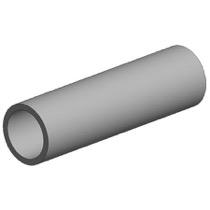 White polystyrene round tube, diameter 12.70