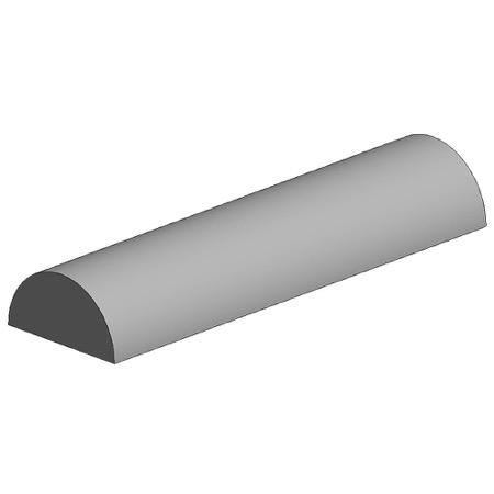 Semicircular polystyrene tube, diameter 2.50 mm