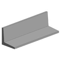 White polystyrene angle profile