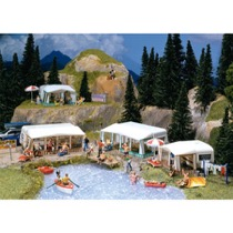 Set of camping caravans