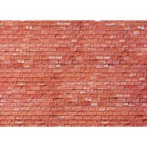 Wall card, Cut stone, red