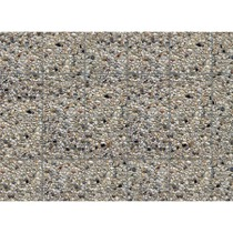 Wall card, Exposed aggregate concrete