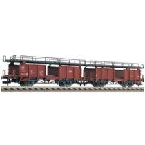 Zwei Doppelstockwagen für Autotransport Bauart Laaes 541, DB DC