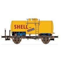 """DSB tankvogn ZE 502 812 """"SHELL med ICA"""" epoke III"""