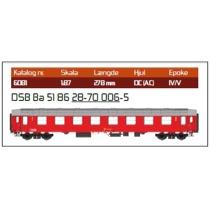 DSB Ba 51 86 28-70 006-5 2. kl. personvogn