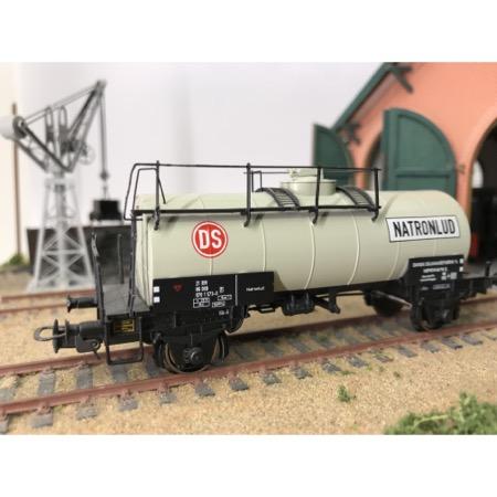 """DSB tankvogn ZE 21 86 070 1 573-0 """"DS Natronlud"""" epoke III/IV"""