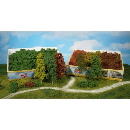 Naturlige fibertræer og buske lysegrøn