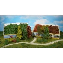 Naturlige fibertræer og buske Mellemgrøn