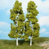 birch trees 18 cm / 2 pc