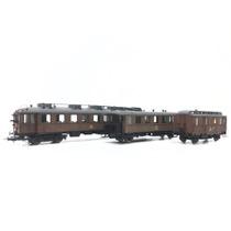 Jubilæumssæt med ML-motorvogn, FC- og DO-vogne i teak DC