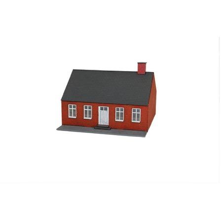 Rødt byhus