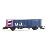 """DB Lgjs containervogn med """"BELL"""" container"""