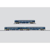 Inter-City Plus der Niederländischen Eisenbahnen (NS). IC+ A, 1. Klasse. IC+ B, 2. Klasse. IC+ BKD, 2. Klasse, Küche und Gepäckraum. Aktuelles Design.