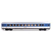 DB 2. kl. personvogn blå/hvid
