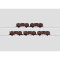 Set mit 5 Güterwagen. - Gattung P DSB