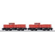2x Diesellokomotive - Serie 6400, NS/DB AC