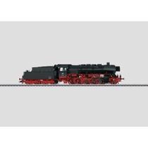 Güterzug-Dampflokomotive mit Schlepptender. - BR 50, DB AC