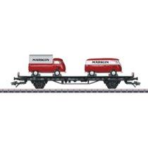 """Autotransportwagen mit 2 VW-Bus Transporter T1 """"Märklin"""" - Sm 24, DB"""