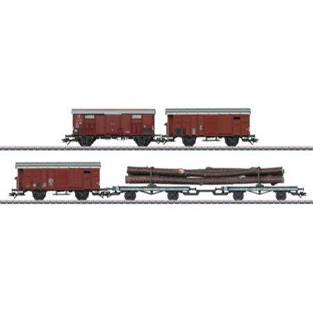 Güterwagen-Set zur Dampflok C 5/6 - K3, Typ F, SBB, FS