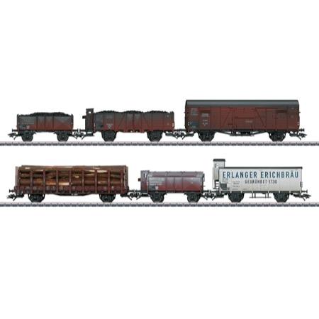 Güterwag-Set, 6 Wag. gealt. D
