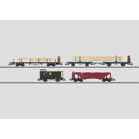 Güterwagen-Set. - Güterwagenset DRG